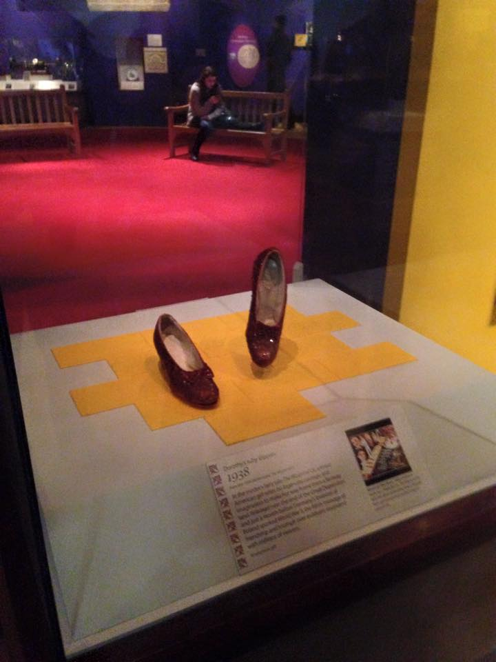 The Ruby Slipper on display at the Museum of the History of America, Washington DC