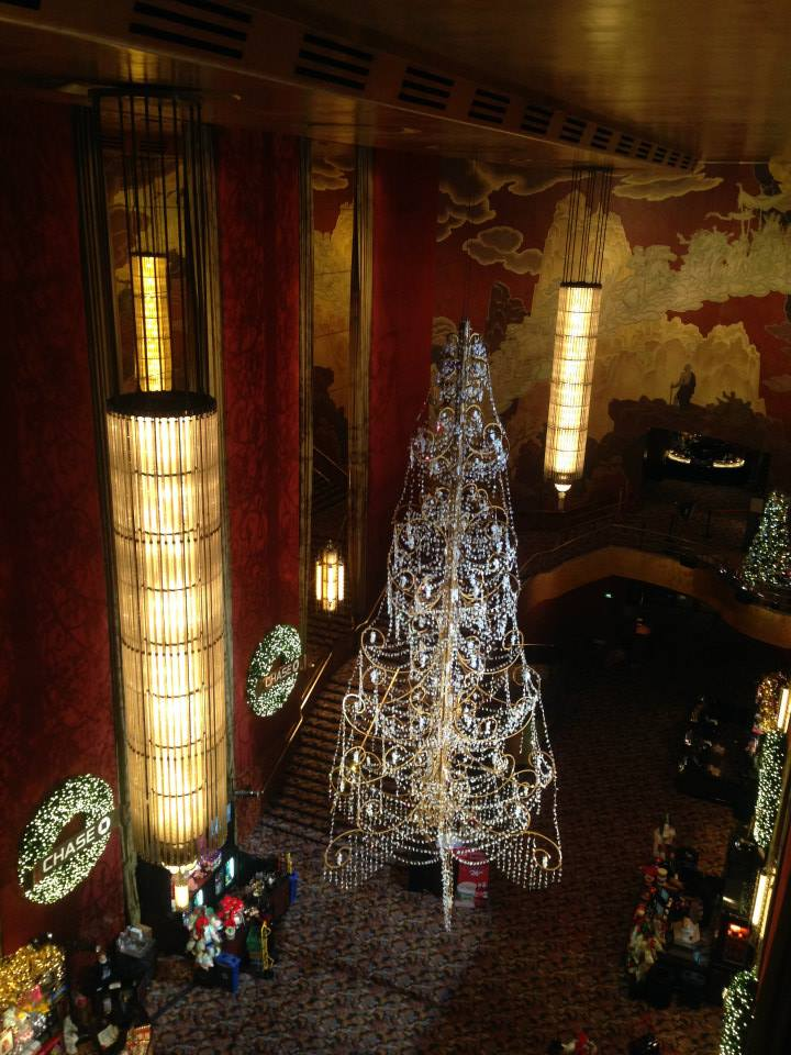 Christmas Tree in the foyer of Radio City Music Hall
